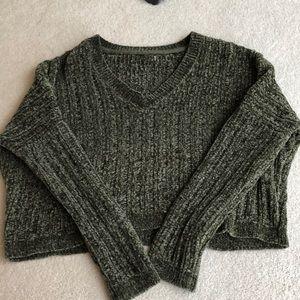 Dark Green PanSun Fuzzy Sweater
